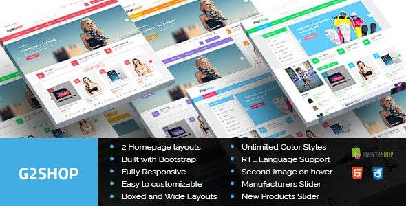 G2Shop - Responsive Prestashop Theme - Shopping PrestaShop