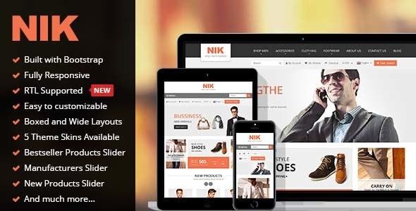 Nik - Responsive Multi-Purpose Prestashop Theme - Fashion PrestaShop