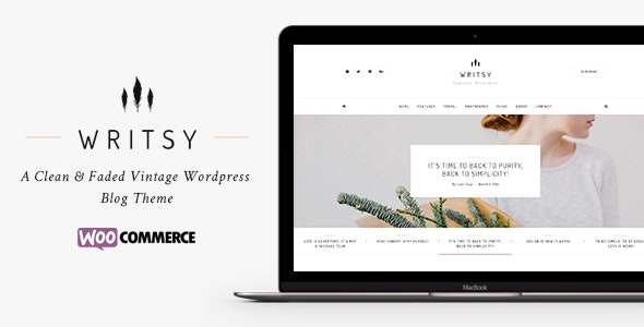 Writsy - A Clean & Faded Vintage WordPress Blog & Shop Theme - Personal Blog / Magazine