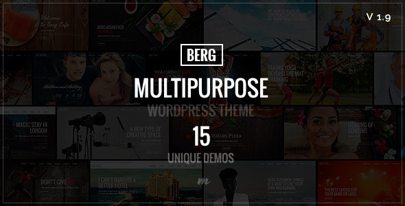 Berg - Multipurpose Responsive Theme - Corporate WordPress