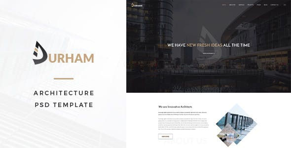 Durham : Architecture PSD Template