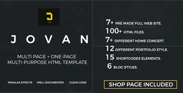 Jovan | Multipurpose HTML5 Template - Corporate Site Templates