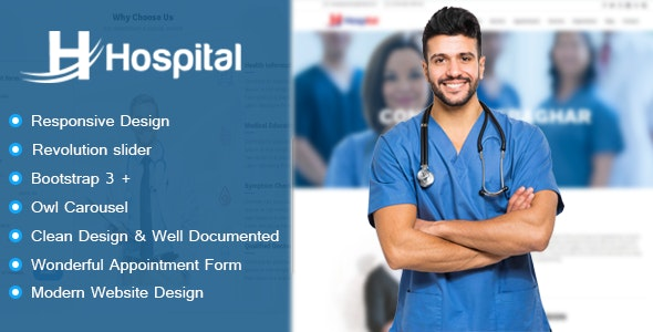 Hospital - Appointment and Management HTML Template - Health & Beauty Retail