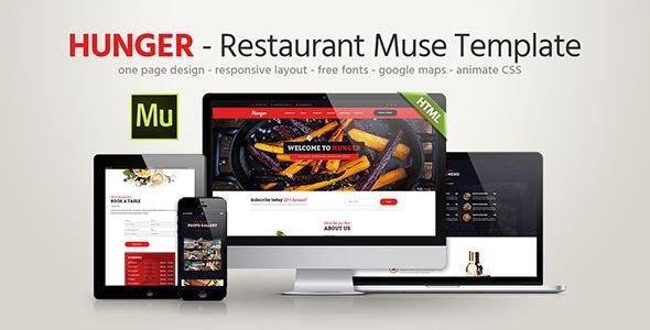 Hunger - Restaurant Responsive Muse Template - Landing Muse Templates