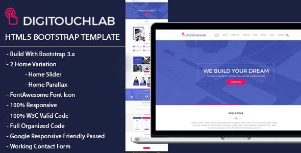 DIGITOUCHLAB HTML5 BootStrap Template