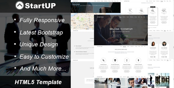 StartUP! - Creative Business HTML5 Template - Corporate Site Templates
