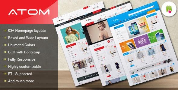 Atom - Responsive Multipurpose Prestashop Theme - Shopping PrestaShop