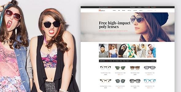 Matlon - Glasses Ecommerce PSD Template - Shopping Retail