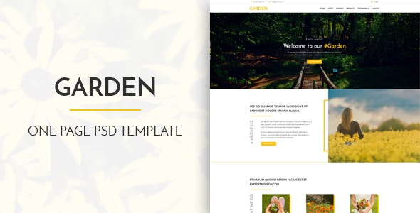 Garden - One Page PSD Template - Corporate Photoshop
