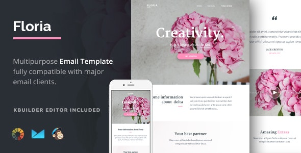Floria - HTML Email Template + Builder 2.0 - Email Templates Marketing