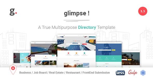 Glimpse Multipurpose Directory Template - Corporate Site Templates