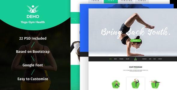 DEHO - Yoga, Gym & Health Related PSD Template - Health & Beauty Retail