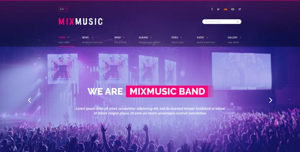 MixMusic - Band & Musician PSD Template