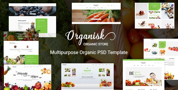 Organisk - Multi-Purpose Organic PSD Template - Food Retail