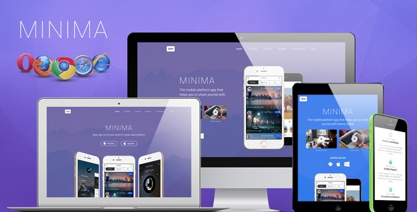 Minima Simple App Showcase Landing Page - Apps Technology
