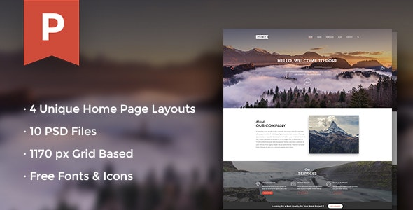 Porf Agency Multipage PSD Template - Photoshop UI Templates