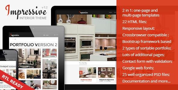 Impressive - Interior Responsive HTML5 Template - Creative Site Templates
