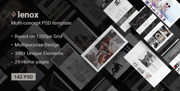 Lenox — Creative MultiConcept PSD Template - Creative PSD Templates