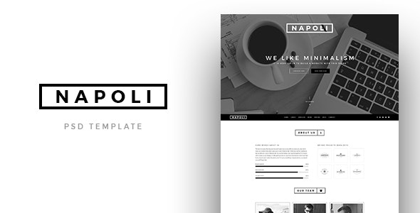 Napoli - Creative OnePage PSD Template - Photoshop UI Templates
