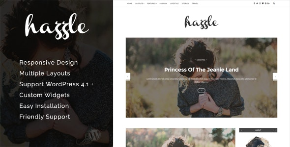 Hazzle - Personal & Travel Blog Theme - Personal Blog / Magazine