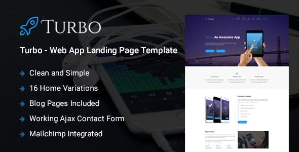 Turbo - Responsive Bootstrap Web App Landing Page Template