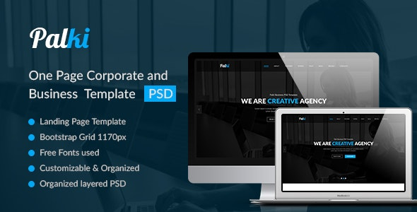 Palki– Creative PSD Landing Page - Portfolio Creative