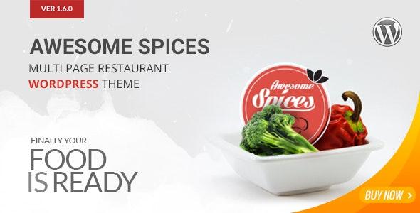 Awesome Spice - Restaurant / Cafe WordPress Theme - Restaurants & Cafes Entertainment