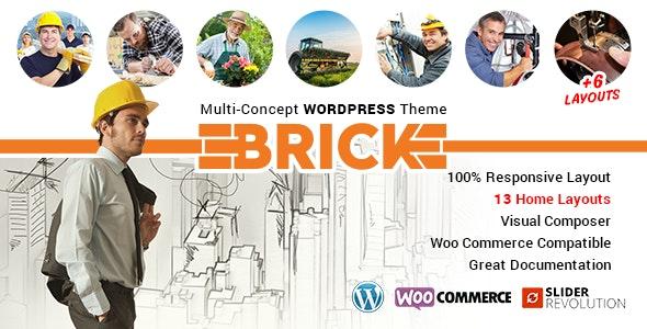 Brick – Multi Concept WordPress Theme - Corporate WordPress