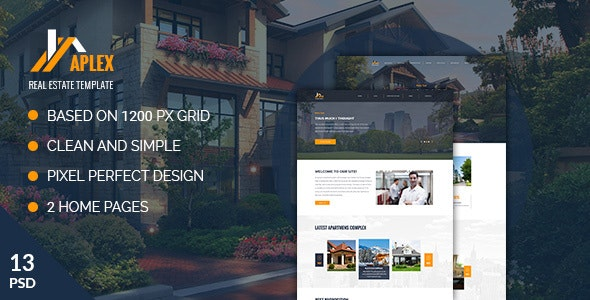 Aplex — Apartment Complex PSD Template - Business Corporate