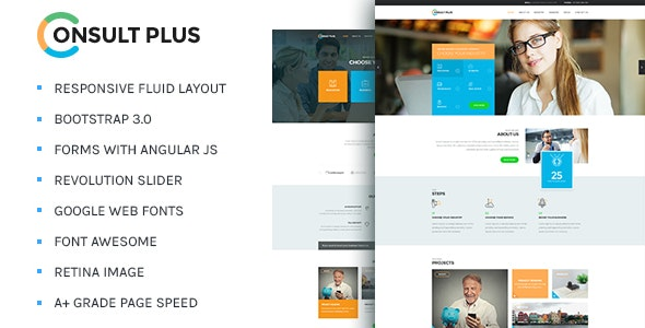 Consult Plus - Corporate Business HTML5 Template - Business Corporate