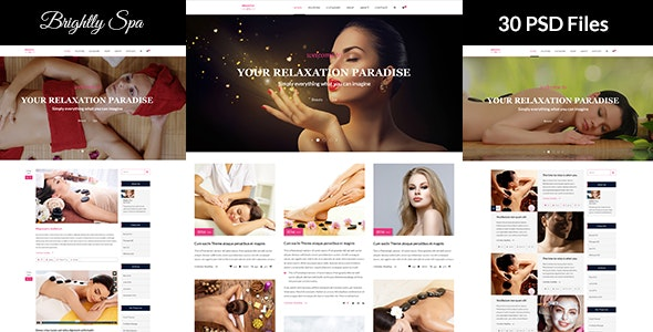Brightly Spa - Beauty Blog - PSD Template - Health & Beauty Retail