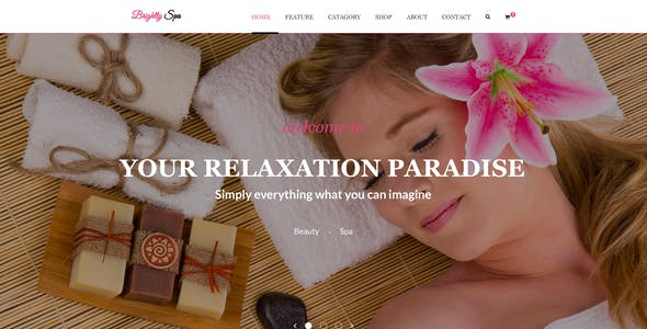 Brightly Spa - Beauty Blog - PSD Template