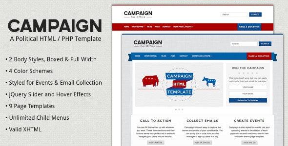 Campaign - Political HTML Template - Political Nonprofit