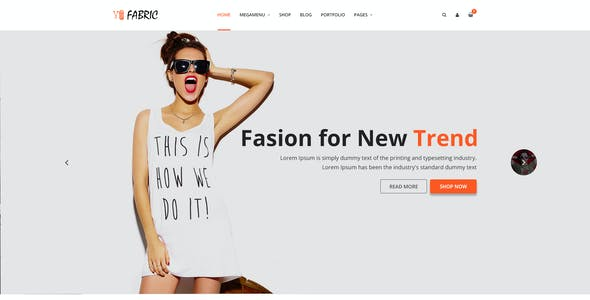 Fabric - Ecommerce PSD Template (90% OFF Now)