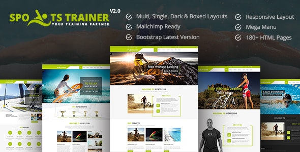 SportsTrainer - Health Coach & Personal Trainer HTML - Health & Beauty Retail