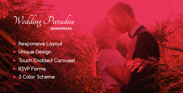 Wedding Paradise – A Wedding Theme - Wedding WordPress