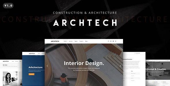Archtech - A Responsive Architecture WordPress Theme - Portfolio Creative