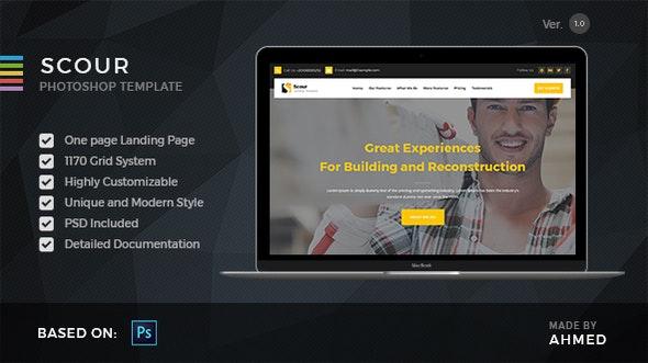 Scour Construction - PSD Template - Photoshop UI Templates