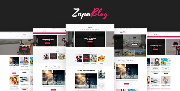ZupaBlog – Creative Blog and Magazine PSD Template - Personal Photoshop