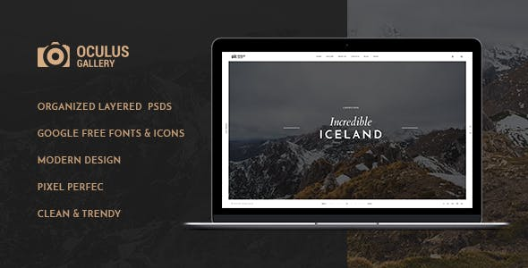 Oculus - Creative Photography PSD Template