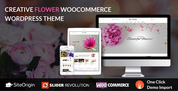 Creative Flower Woocommerce WordPress Theme - WooCommerce eCommerce