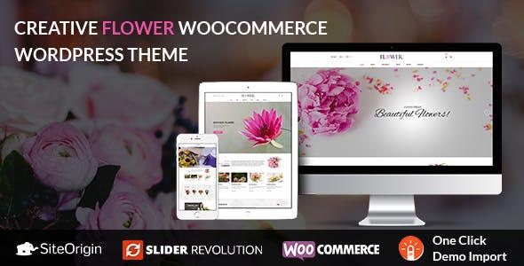 Creative Flower Woocommerce WordPress Theme
