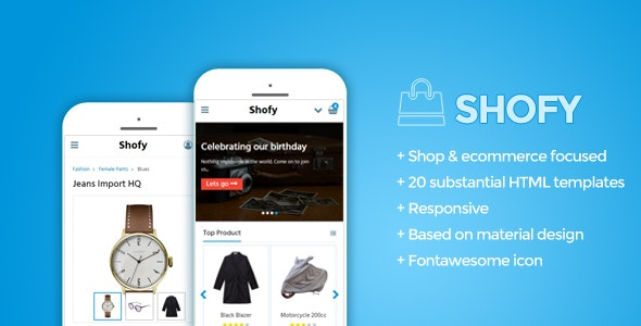 Shofy - Mobile Shop Template - Mobile Site Templates