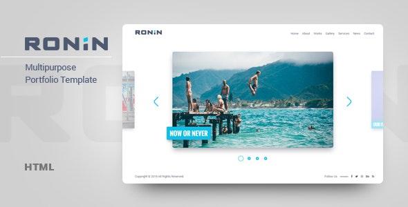 Ronin - Multipurpose Portfolio Template - Portfolio Creative