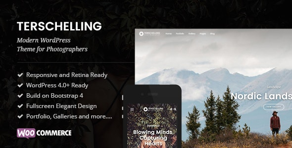 Terschelling - Modern Photography WordPress Theme - Photography Creative