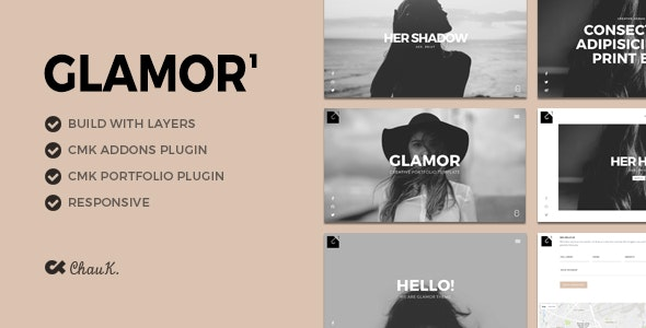Glamor - Creative Portfolio WordPress Theme - Creative WordPress
