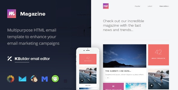 Magazine - Multipurpose Email Template + Builder - Newsletters Email Templates