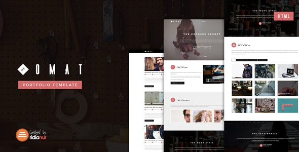 Omat - Responsive One Page Portfolio HTML Template - Portfolio Creative