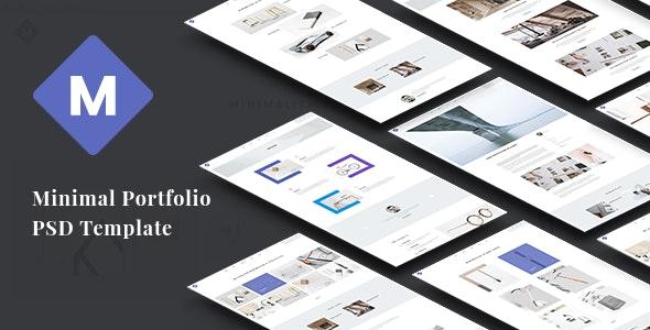 M - Minimal Portfolio PSD Template - Portfolio Creative