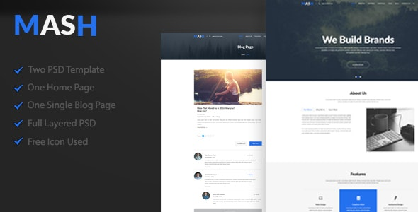 Mash - One Page PSD Template - Business Corporate